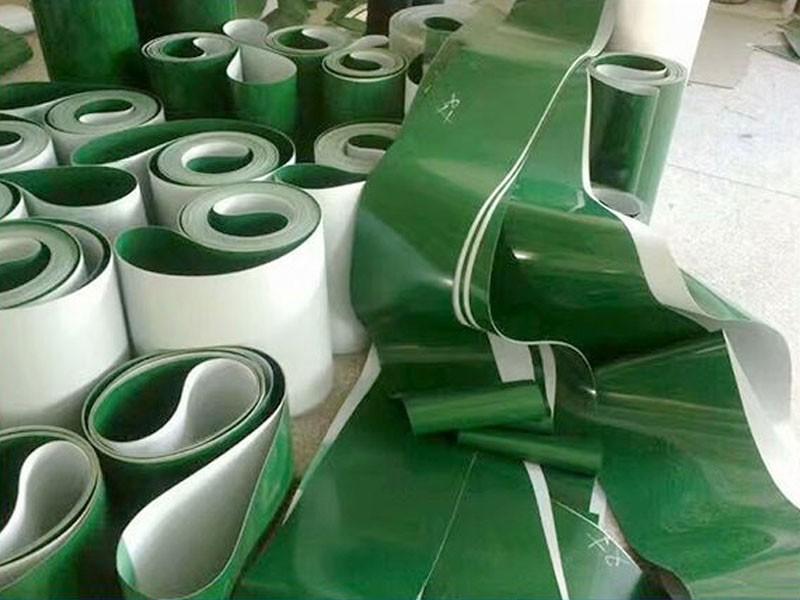 PVC输送带 PVC绿色平面输送带