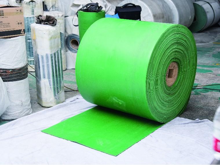 绿色橡胶输送带,制鞋厂专用输送带流水线皮带