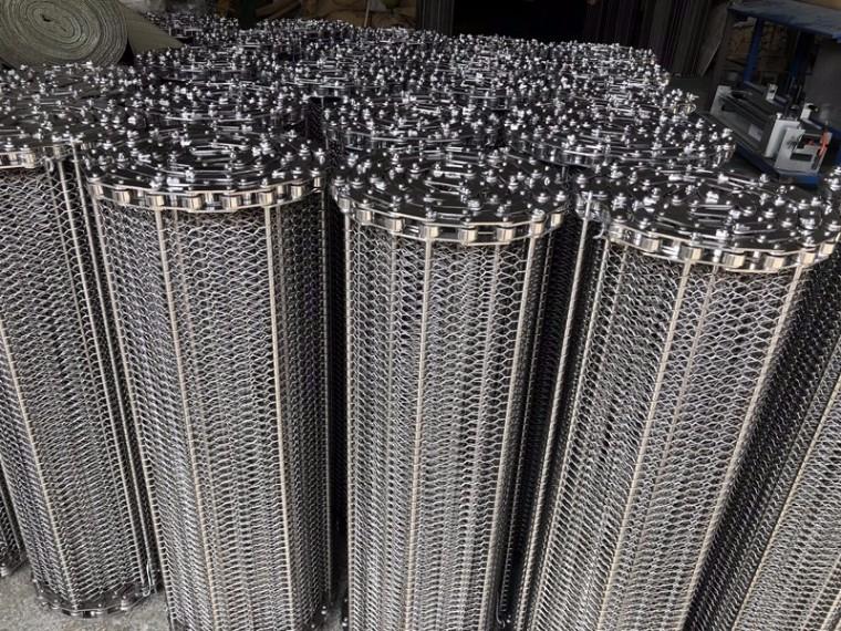 不锈钢食品输送网带,链条式输送网带的作用与用途