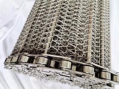 食品行业输送带 食品机械输送网带 不锈钢链条式网带