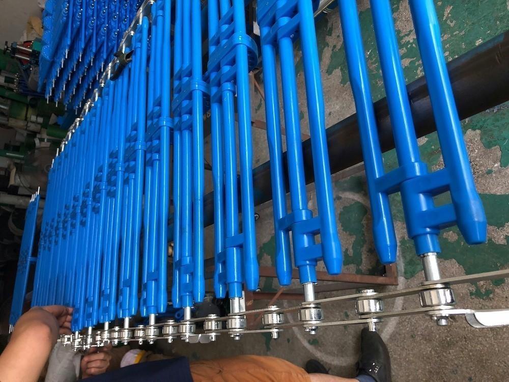 蓝色楦架输送链条 塑胶线输送链条批发